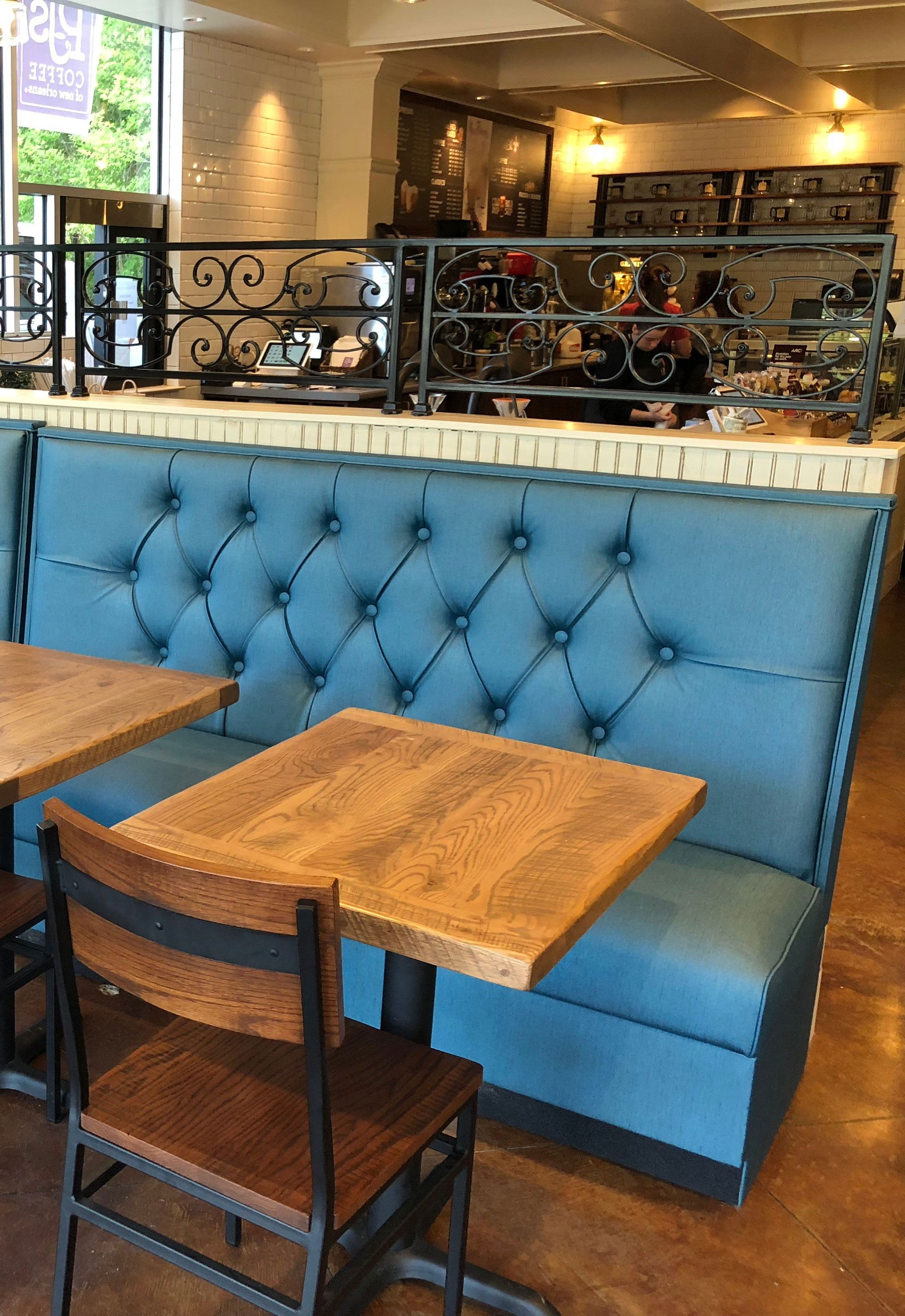 custom restaurant tables and chairs chair cover hire portsmouth tufted booth booths pinterest