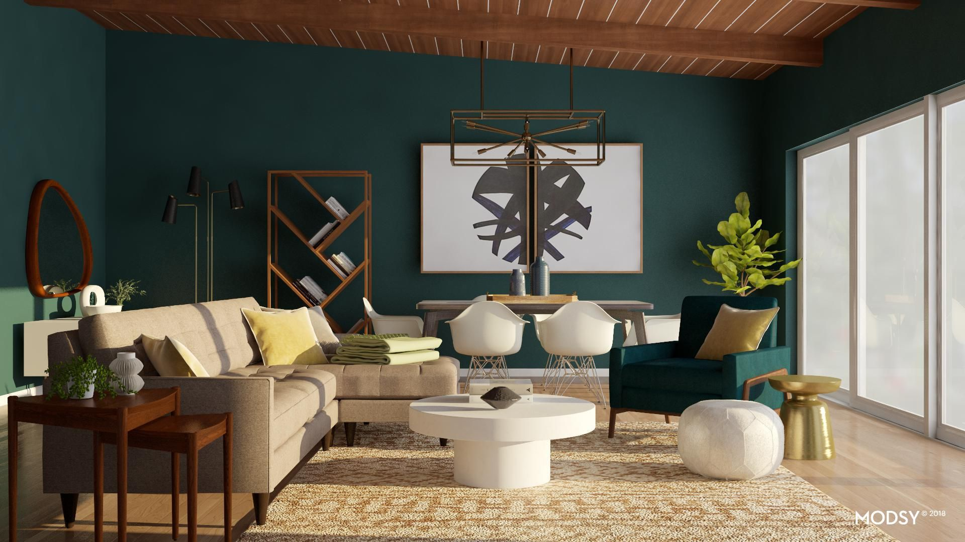 How much green is too much? | Living room design modern, Mid ...