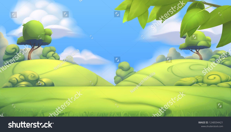 Nature Landscape Park 3d Vector Background Sponsored Affiliate Landscape Nature Park Background Vector Background Motion Graphics Animation Nature