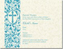 Personalized Invitations Announcements Designs First Communion