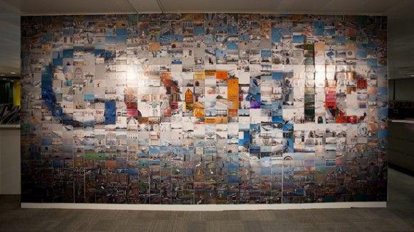 Google London Office Wall Art