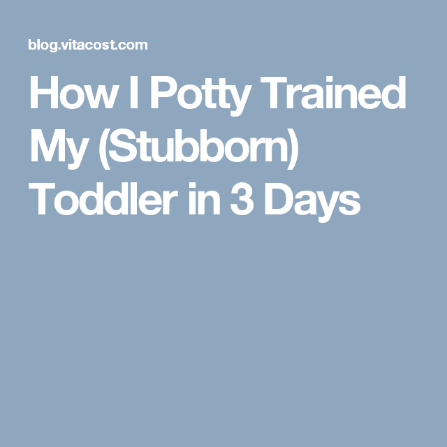 how to get toddler to potty train