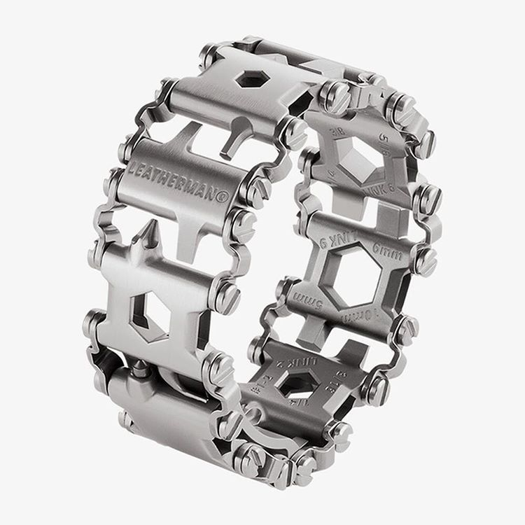 """NEW on #MOCOmart.com, the Leatherman Tread Bracelet, the travel friendly wearable multi-tool. http://buff.ly/1k11esE #functional #jewelry"""