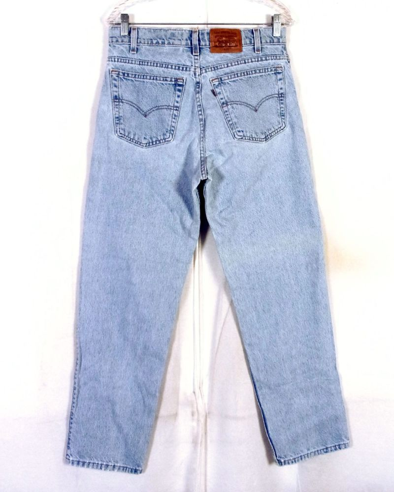 8b244ed61bf vtg 80s 90s Levis 540 Relaxed Fit Men's Light Wash Denim Jeans Leather 32 X  30