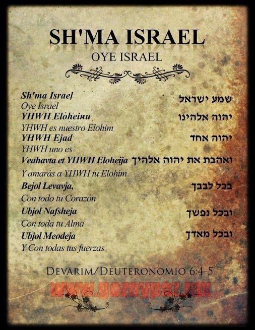 Escucha Yisrael El Eterno Nuestro Elohim El Eterno Es Uno Shema In Hebrew Hebrew Lessons Hebrew Words