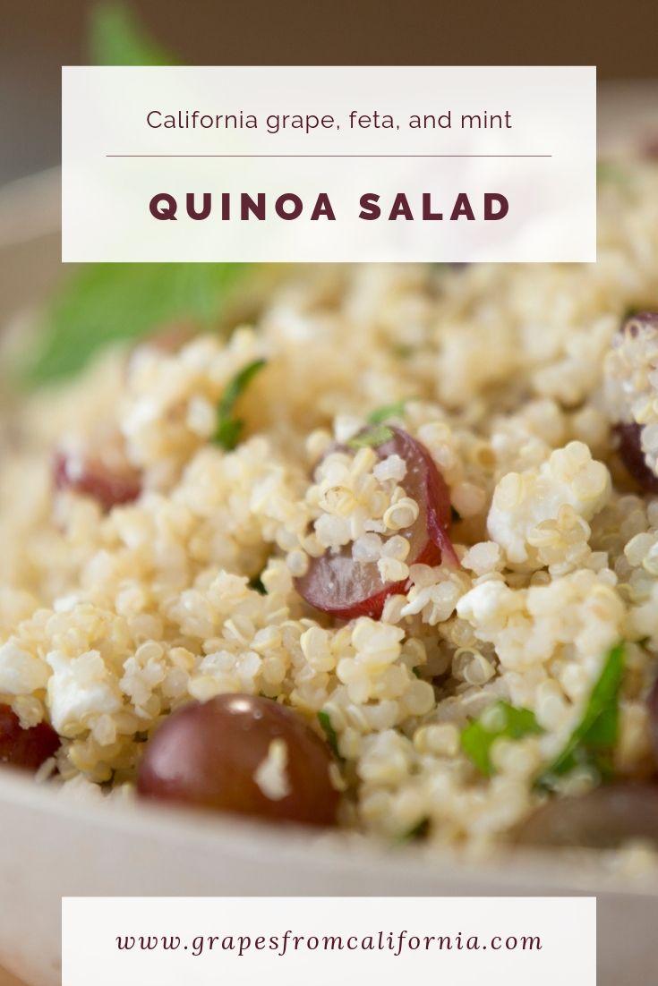 Grape, Feta and Mint Quinoa Salad | Grape recipes ...