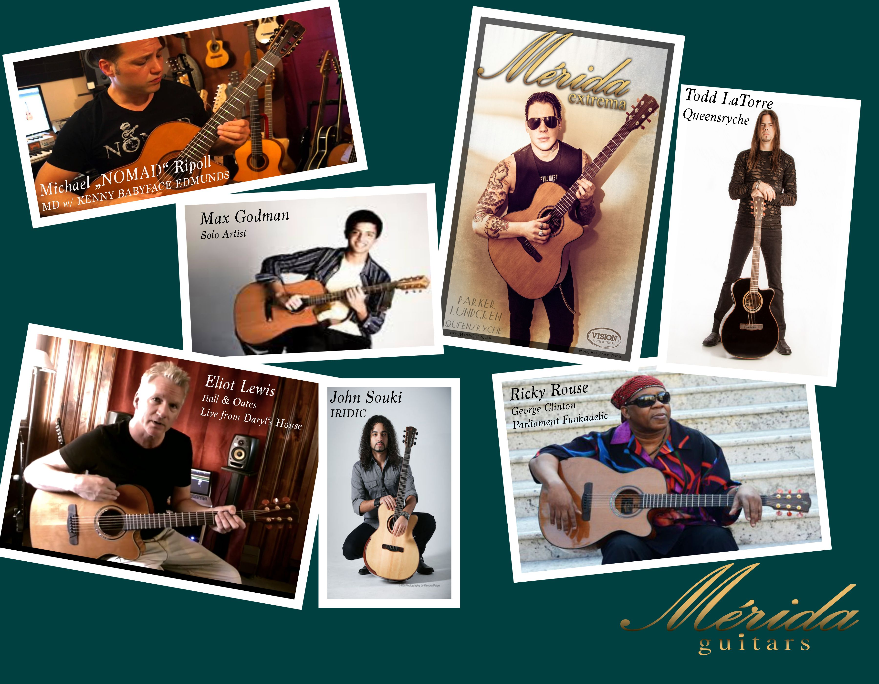 Terrific World Renown Artists All With One Common Thread Merida Guitars Is Their Acoustic Guitar Of Choice Merida Queensryche Artist