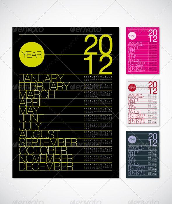 2012 Calendar Poster A3 Calendar Template Vector Eps Download Here