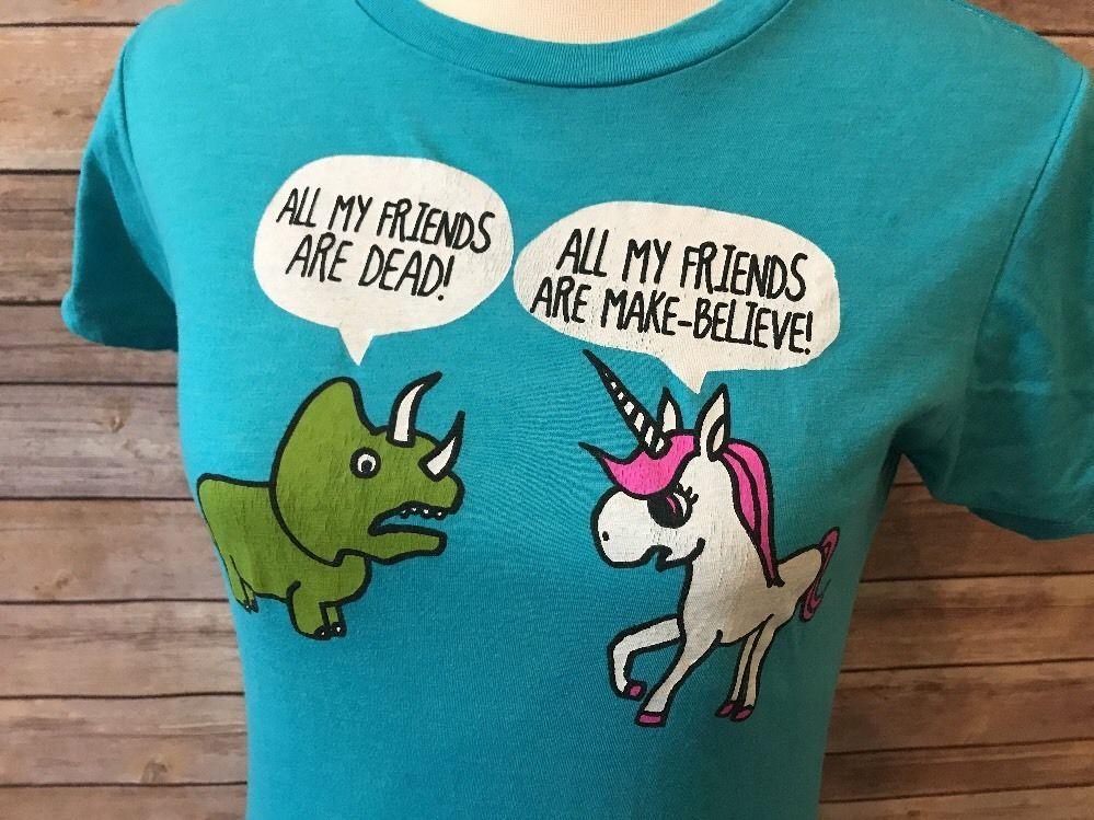 Black Matter Funny Graphic T Shirt Unicorn Dinosaur Tee Junior
