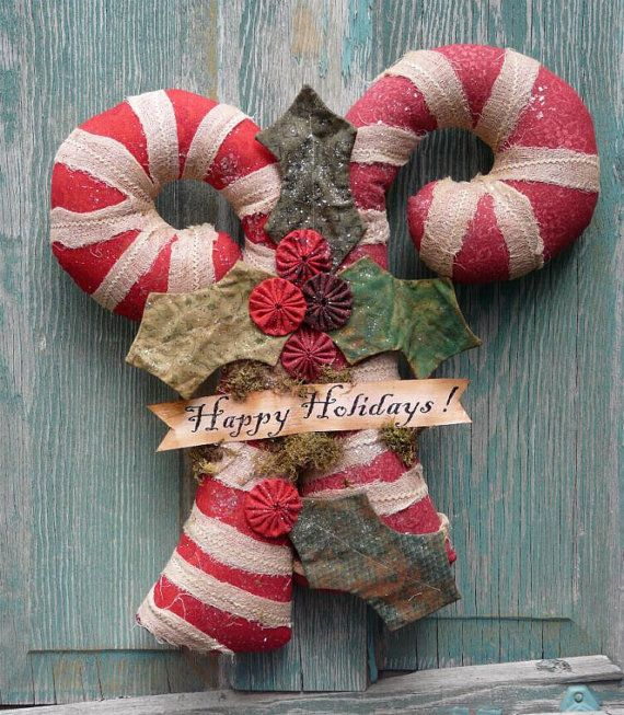 Big Candy Cane Decorations Crafts Crowns For Doors Merry Christmas  Buscar Con Google
