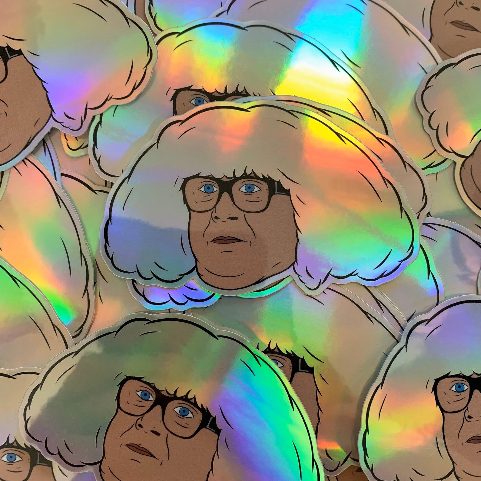 Holographic ongo gablogian sticker always sunny in