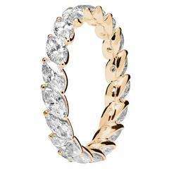 RENESIM Navette Cut Diamond Rose Gold Eternity Ring