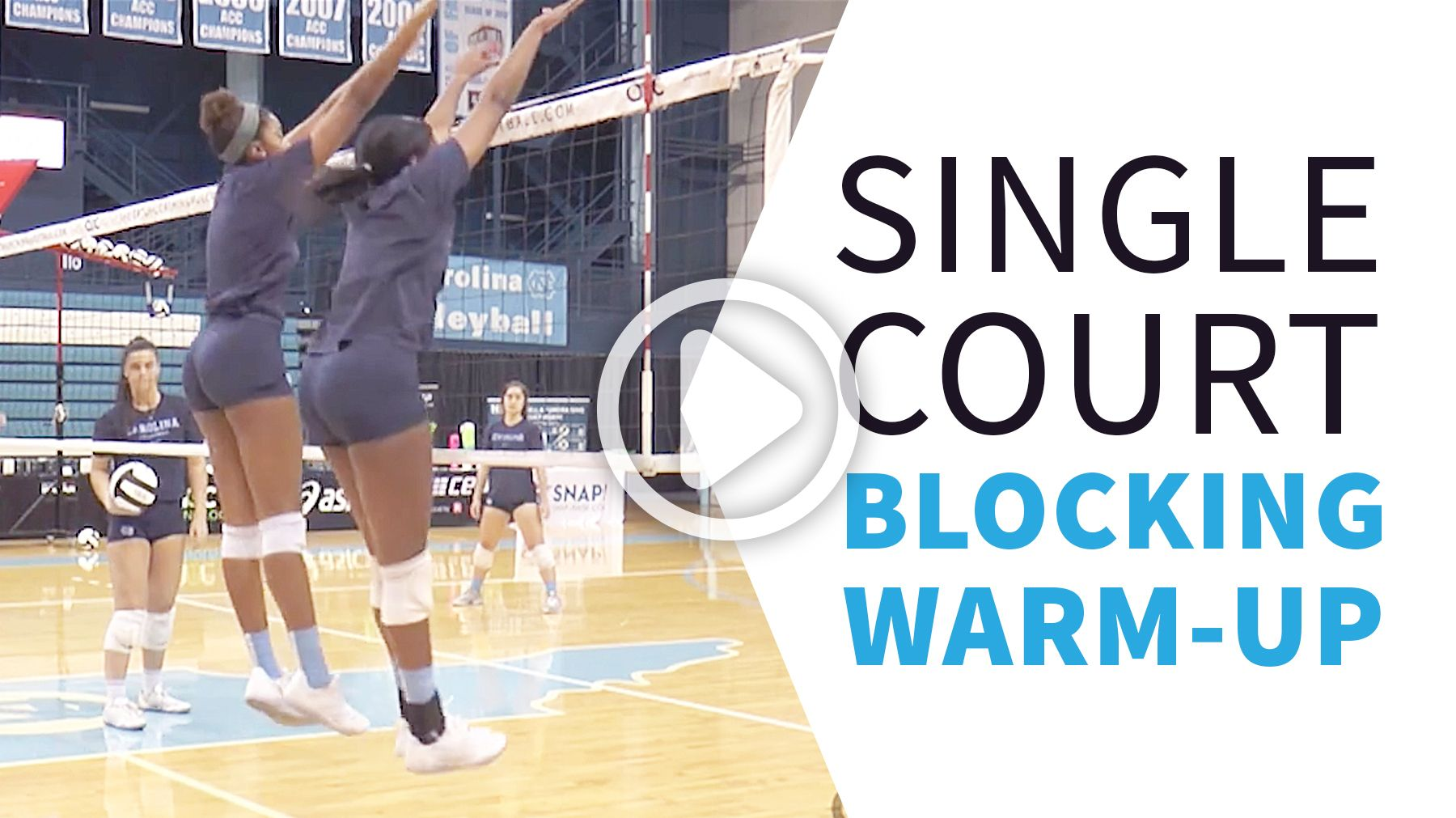 Blocking Drill By The Art Of Coaching Volleyball Coaching Volleyball Volleyball Volleyball Drills