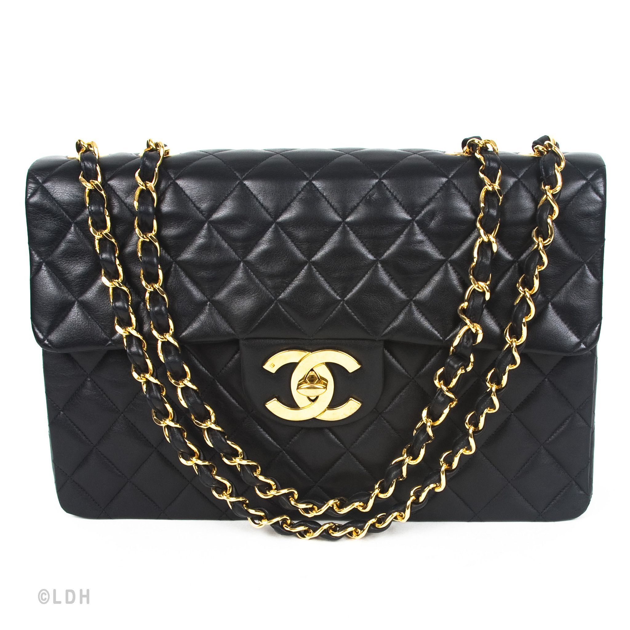 Chanel Quilted Lambskin Jumbo Flap (Authentic Pre Owned)