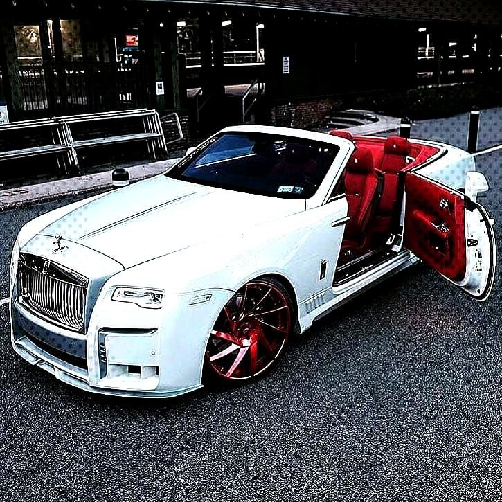 car accessories Rolls Royce white and red.