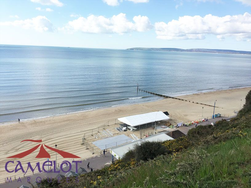 View of marquee down on Bournemouth Beach