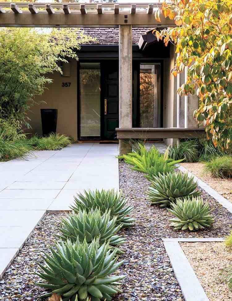 Idée aménagement jardin devant maison : 50 idées pour la ...