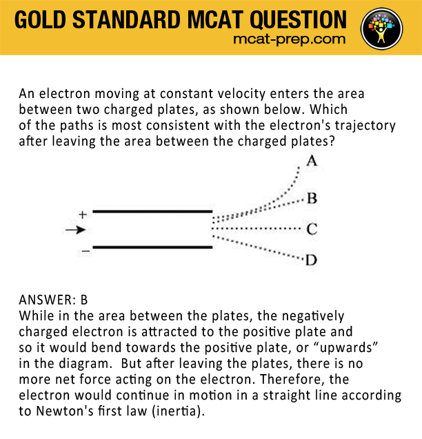 MCAT sample question on Newton's first law or inertia | MCAT