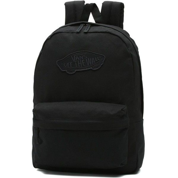 df378a728b1 Vans Realm Backpack ($35) ❤ liked on Polyvore featuring bags, backpacks,  black, vans backpacks, vans bags, daypack bag, backpack bags and vans  rucksack