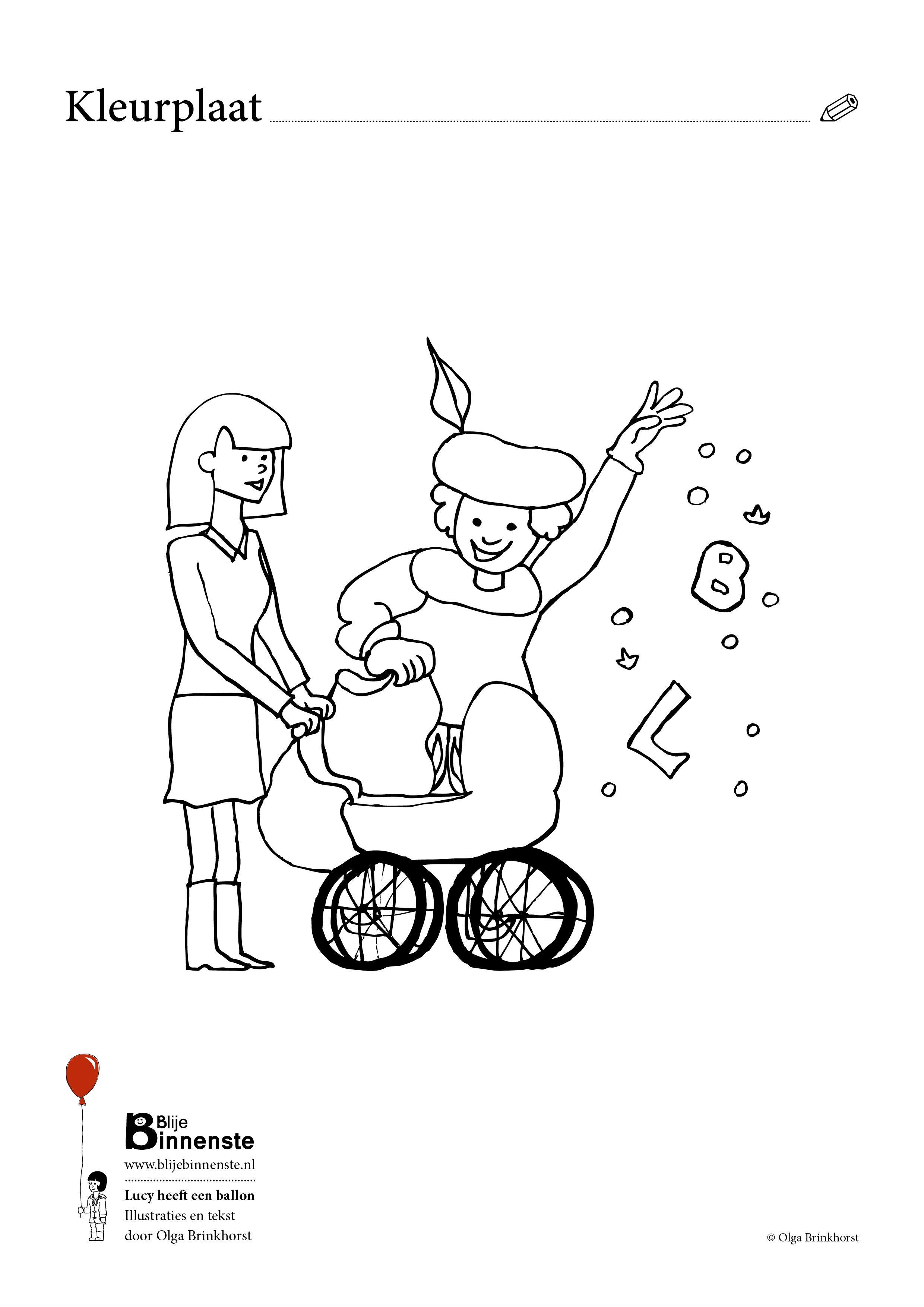 Sint En Piet Kleurplaten Sinterklaas Kleurplaat Lucy Uit Het Kinderboek Lucy Heeft Een Ballon Childrensbook Illustration Kleurplaten Kinderboeken Kinderboek