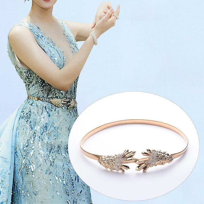 Luxe Rhinestone Crystal Dress Belt