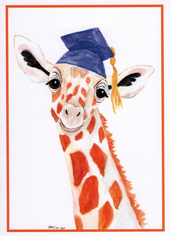 Graduation Giraffe Card Card For Grads Giraffe In