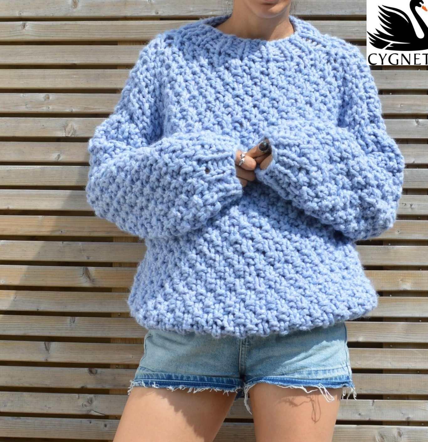 Seriously Chunky Free Sweater Knitting Pattern | # ...
