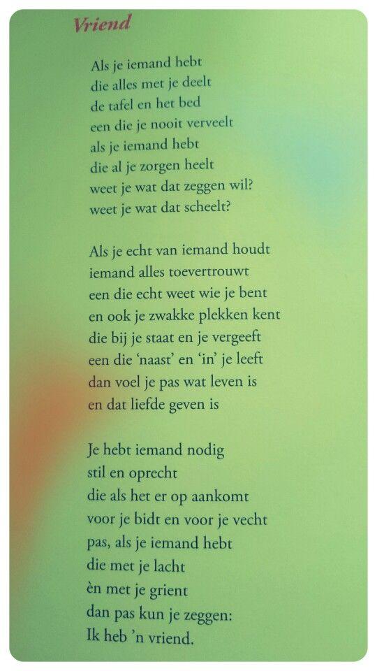 Gedicht Vriend Toon Hermans Gedichten Over Vriendschap