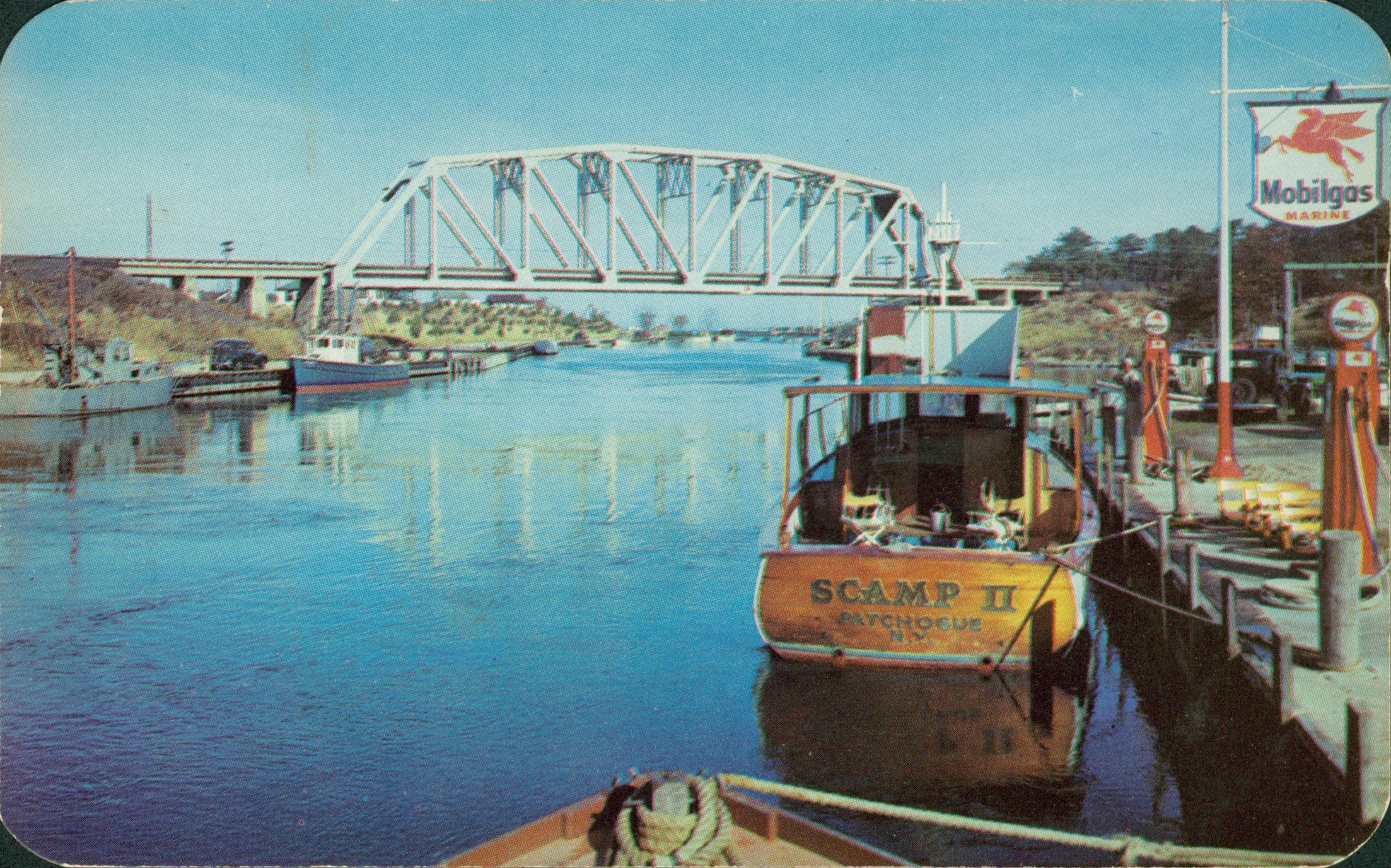 Shinnecock Canal, Hampton Bays, NY; Postcard