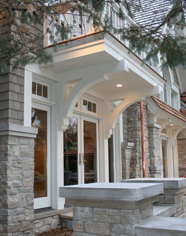 Cantilevered Covered Entry Haus Haus Amerikanische Hauser Und