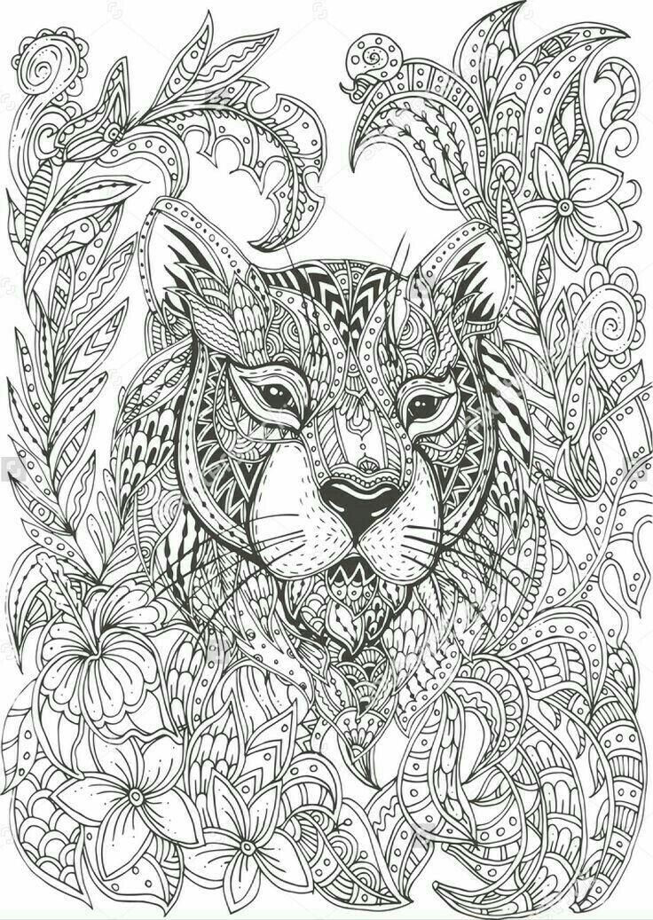 Big Cat Jungle Mandala Coloring Pages Pattern Coloring Pages Coloring Pages Inspirational