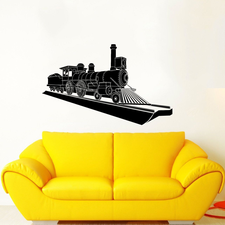 Train Locomotive Vinyl Sticker Wall Art   โปรเจกต์น่าลอง   Pinterest ...
