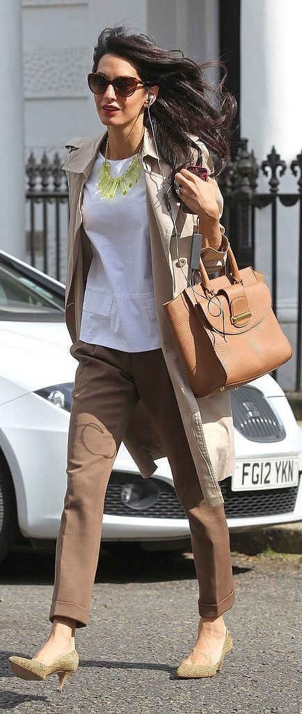 You can pull off Amal's flawless street style too —by buying her bag!