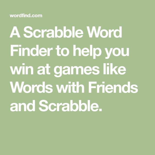 Scrabble Word Finder Deutsch