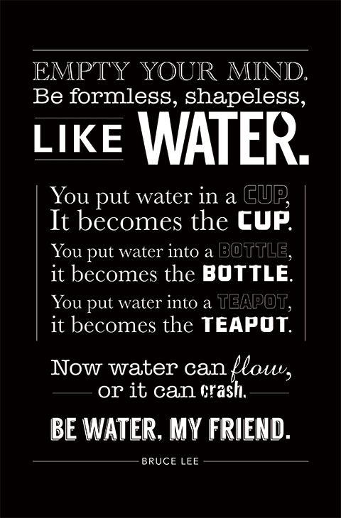 Bruce Lee Water Quote Brucelee Bruceleequotes Kurttasche Quotes
