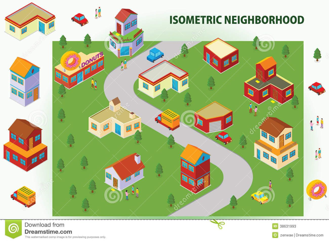 Neighborhood Stock Illustrations 2 664 Neighborhood