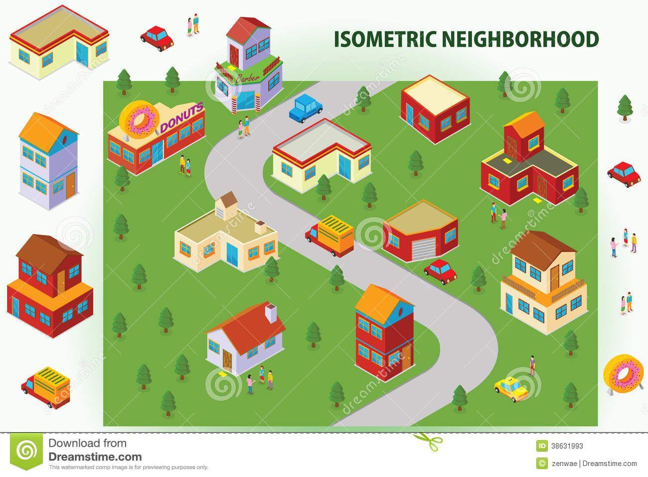 Neighborhood Stock Illustrations 2 664 Neighborhood