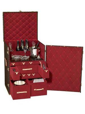 f6ccd653ca14 Louis Vuitton Trunk~ portable bar. OMG I had no idea this existed!!  Fabulous!!