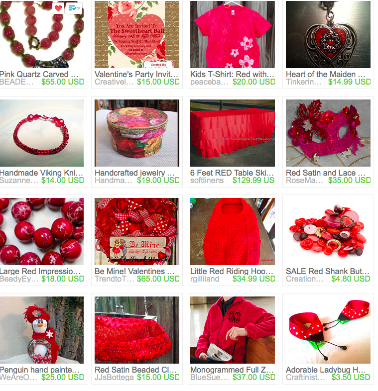 "A #Etsy #treasury ""Strawberry Daiquiri"" by #AbundantArtsVintage http://etsy.me/1DC6zNF"