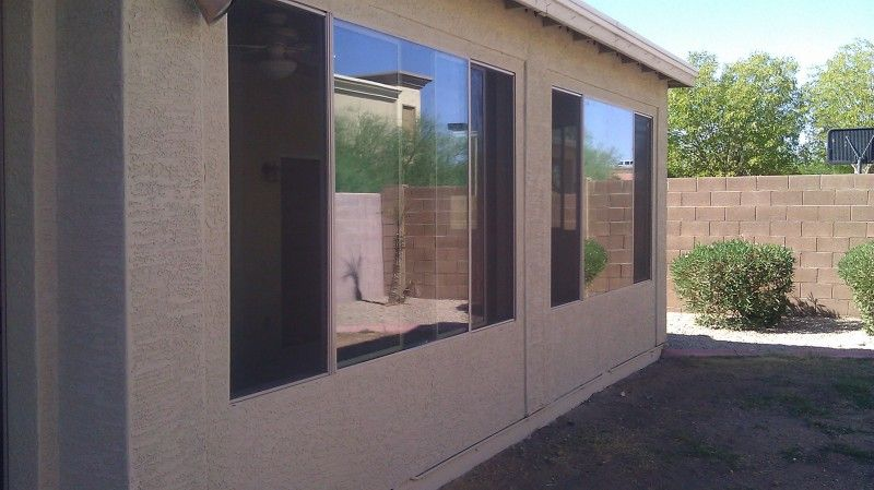 Custom built patio enclosure under existing patio roof. Phoenix, Az ...