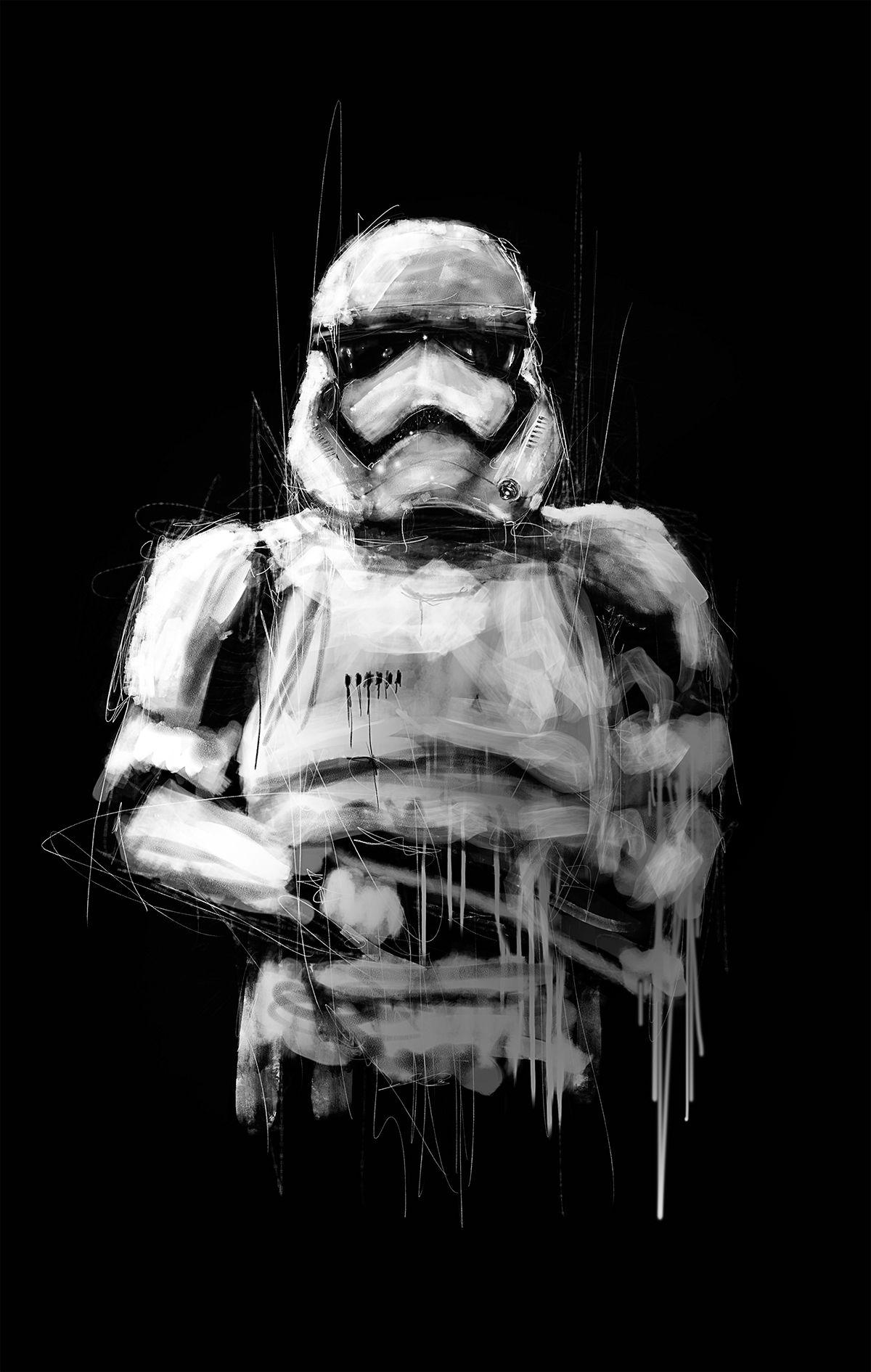 Star Wars Portraits On Behance Star Wars Wallpaper Star Wars Portrait