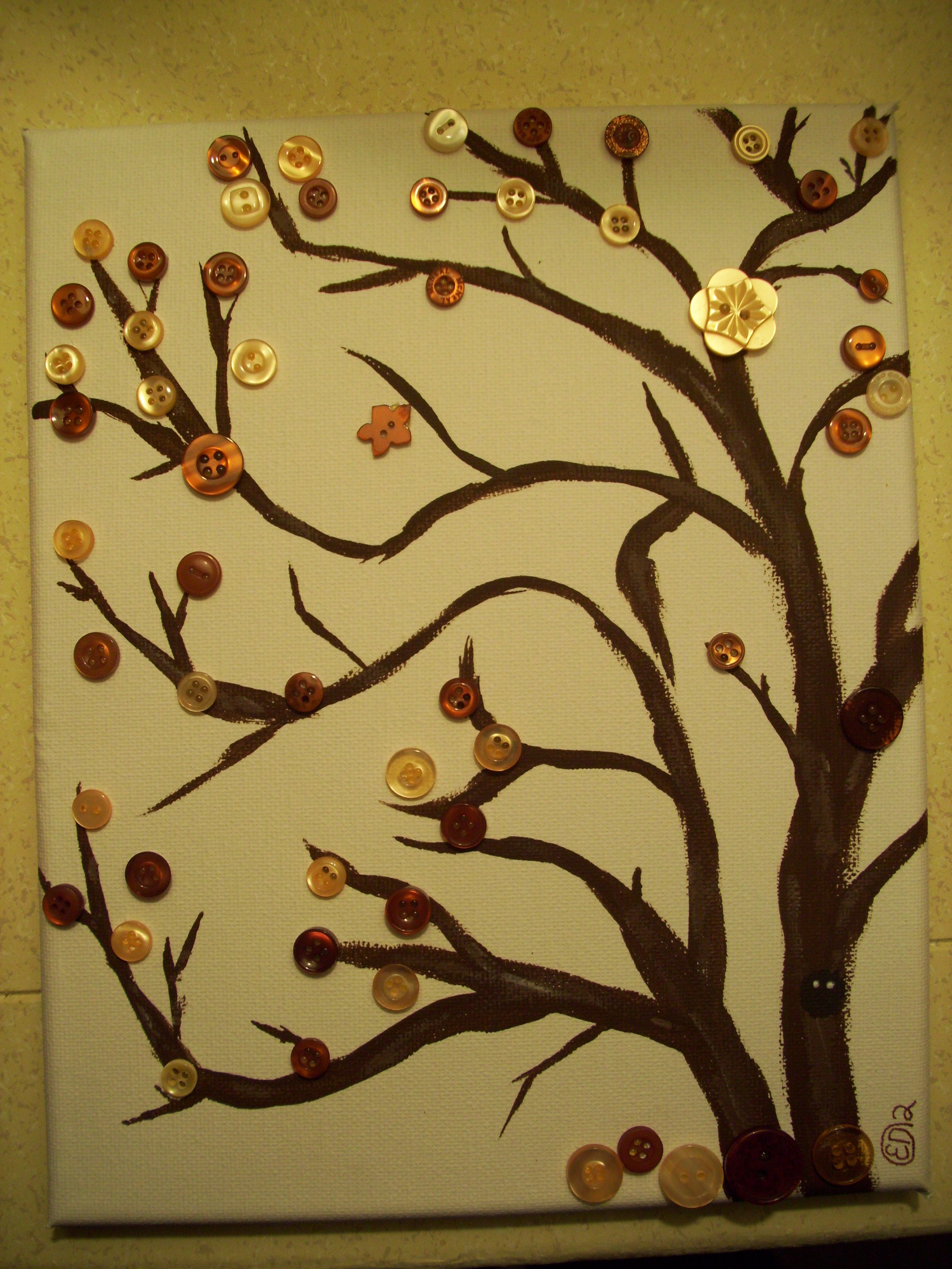 A Button Tree, with all the buttons i have i bet i could make one of ...