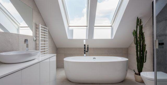 banos-modernos-con-banera diseños Pinterest Baño moderno