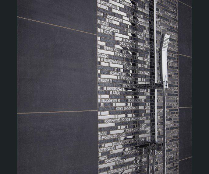 salle de bains inox noir projet salle de bains pinterest ps. Black Bedroom Furniture Sets. Home Design Ideas