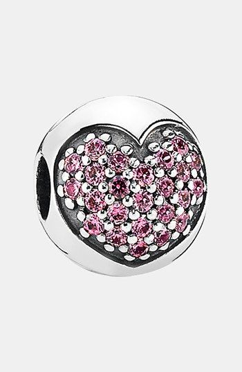 fee8797c0 PANDORA 'Love of My Life' Clip Charm available at #Nordstrom in pink ...
