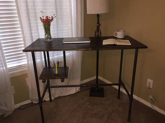 Furniture Ideas · Handmade Wooden And Black Iron Standing Desk. Free  Delivery To Houston Metro Area.