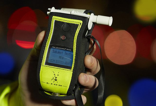 A Lion Alcometer 500B as used by Greater Manchester Police to perform roadside breath tests on motorists. Roadside breath test have been taking place in Great Britain since the late 1960s although equipment had been manufactured in the USA since the early 1930s. www.gmp.police.uk