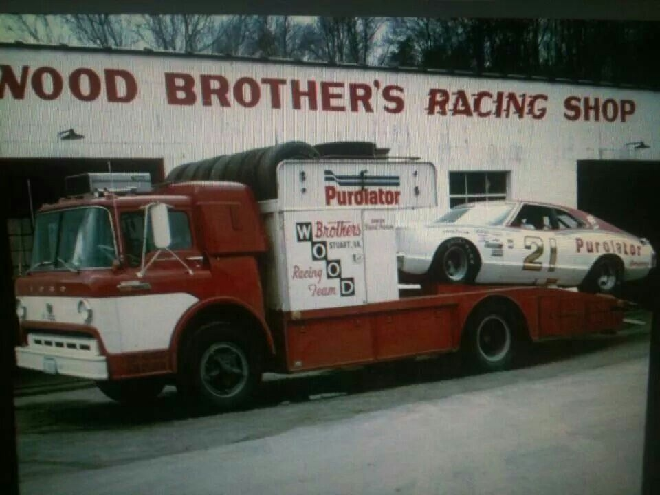 Wood Brothers Racing - the original hauler back in the 70s | Old race cars,  Race cars, Nascar cars