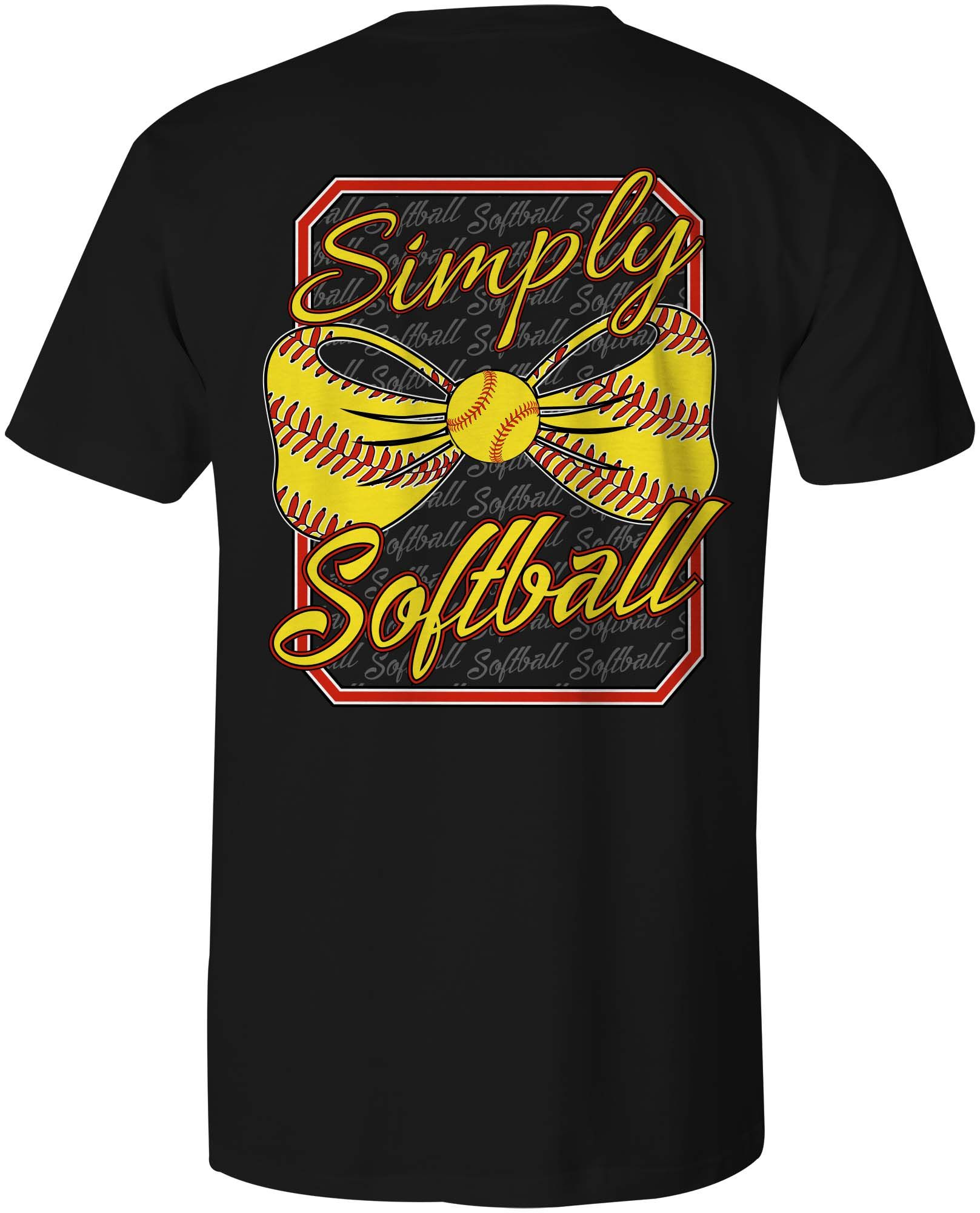 Simply Softball Shirt That We Designed And Printed If You Can Put