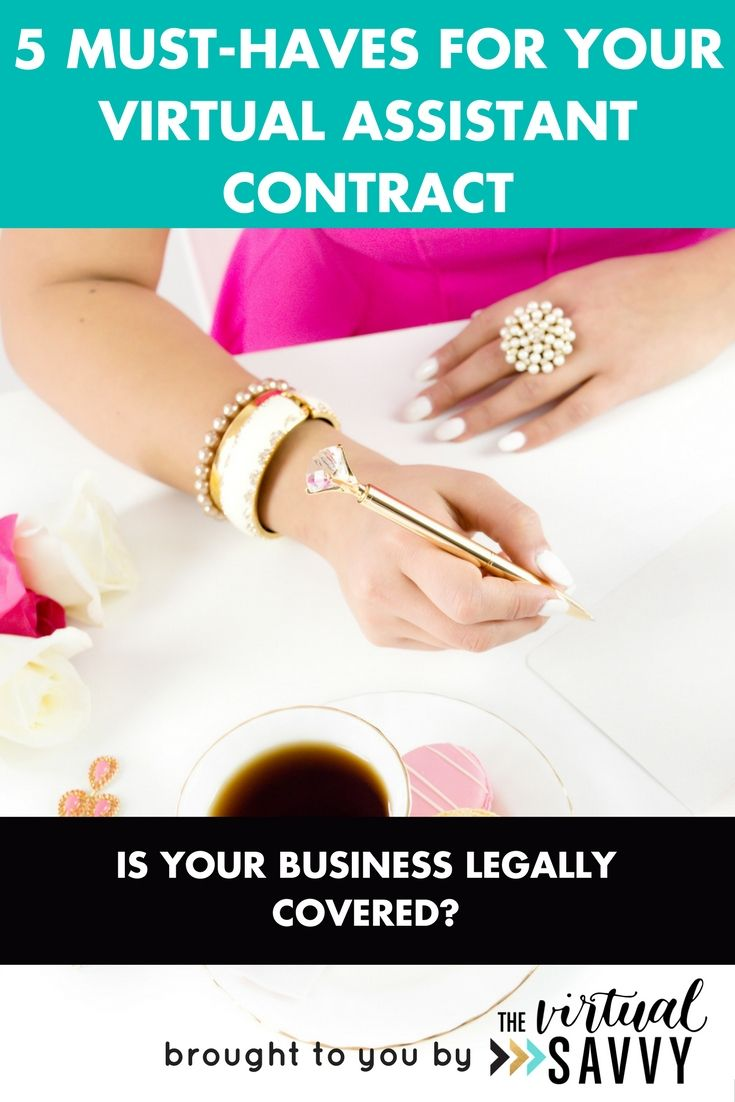 MustHaves For Your Virtual Assistant Contract  Virtual Assistant